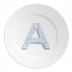 Maremonti ABC Piatto lettera A blu
