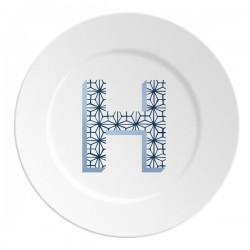 Maremonti ABC Piatto lettera H blu