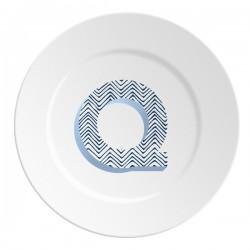 Maremonti ABC Piatto lettera Q blu