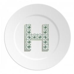 Maremonti ABC Piatto lettera H verde
