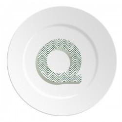 Maremonti ABC Piatto lettera Q verde