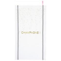 Telo cucina scritta Champagne