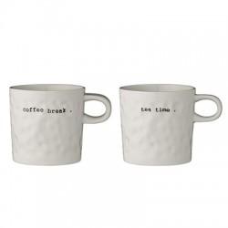 "Set di 2 mug ""coffee"" e ""tea"""