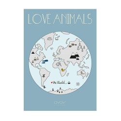 Poster Love animals