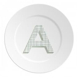 Maremonti ABC Piatto lettera A verde