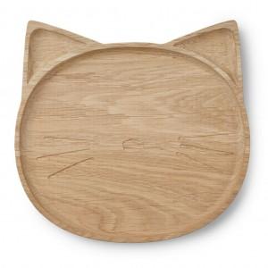 Piatto in legno Gatto Liewood