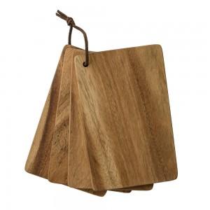Set 4 taglieri in legno Bloomingville