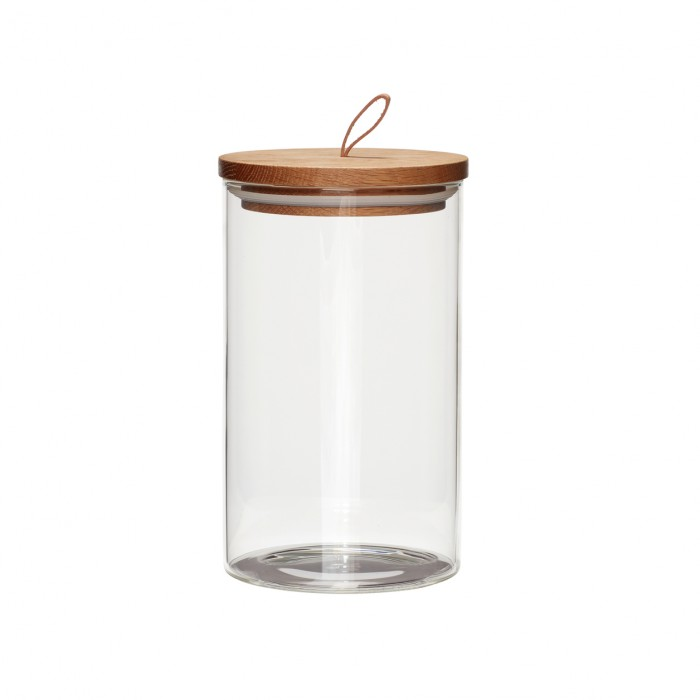 Barattolo in vetro tappo in legno Hübsch