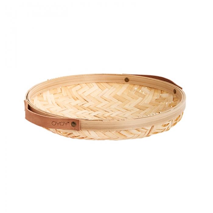 Cesto basket rotondo bamboo
