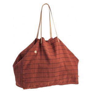 Shopping bag maxi Oscar terracotta