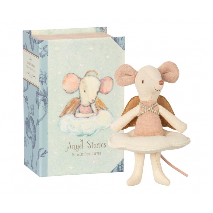Topina Angelo Angel Mouse big sister in a book Maileg