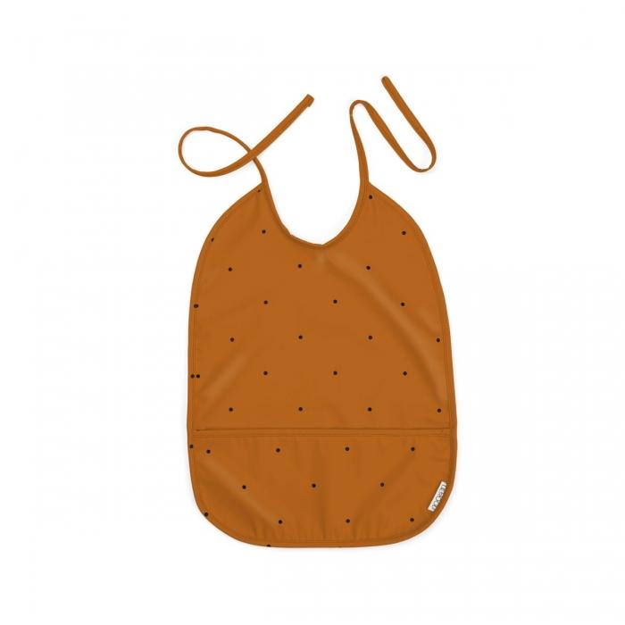 Bavaglino impermeabile mostarda
