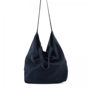 Baya bag in lino blu notte