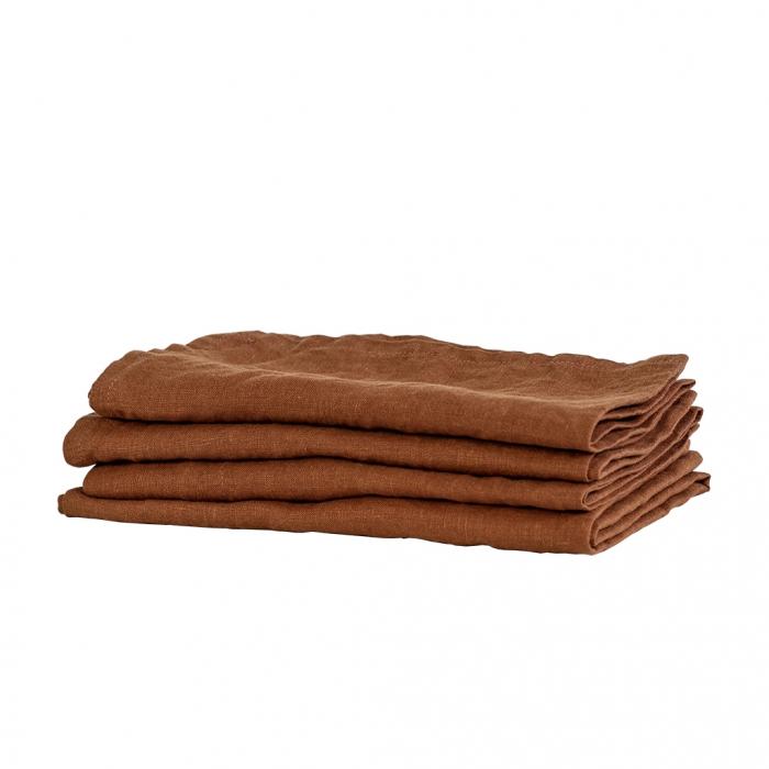 Tea towel in lino ambra