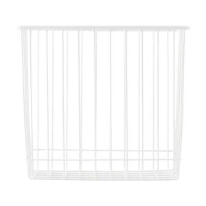 Basket in metallo bianco
