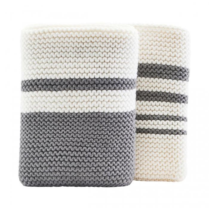 Set 2 lavette in cotone