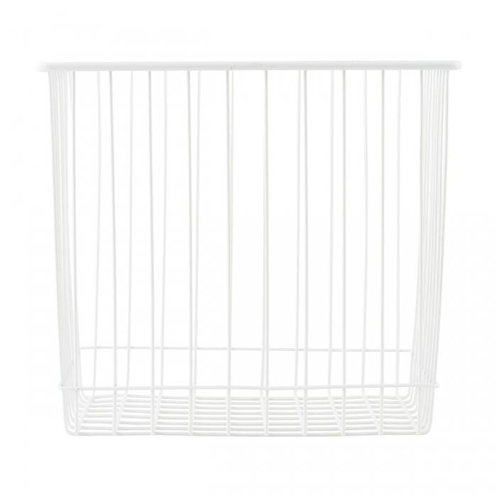 Basket in metallo bianco quadrato