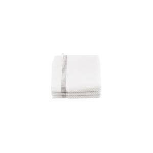 Asciugamani bianchi con riga grigia set 3 pezzi