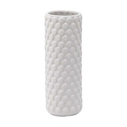 Vaso bubble bianco alto