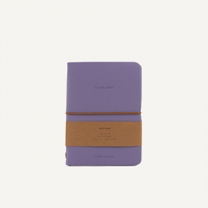 Notebook in ecopelle lilac