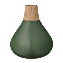 Vaso verde collo legno