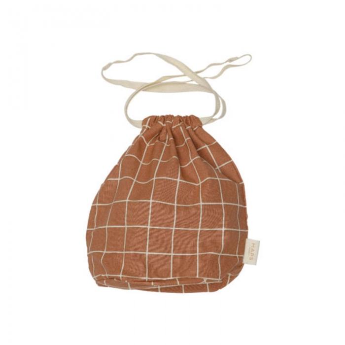 Multibag small check Terracotta