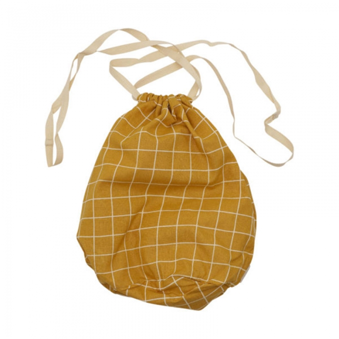 Multibag big check Mostarda