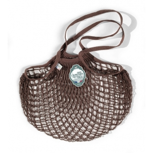 Net Bag a spalla marrone