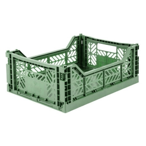 Cassetta pieghevole Almond green Midi