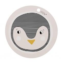 Set 2 tovagliette rotonde  Pinguino