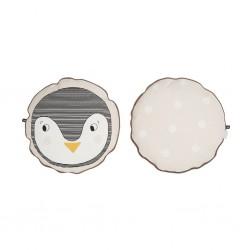 Cuscino circolare pinguino