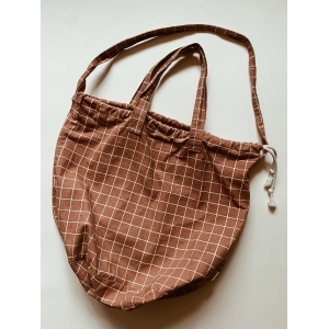 Shopping bag check Terracotta
