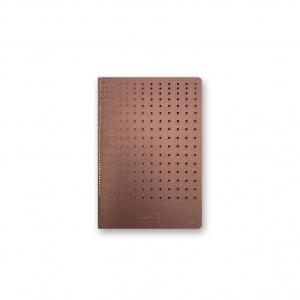 Note Booklet gridded Burgundy