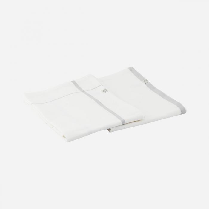 Set 2 tea towel Halida grey