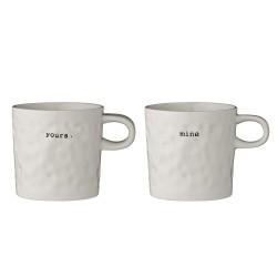 "Set di 2 mug ""mine"" e ""yours"""