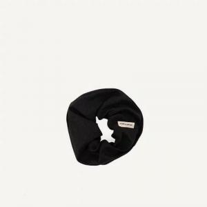 Scrunchie nero Monk & Anna elastico per capelli in lino