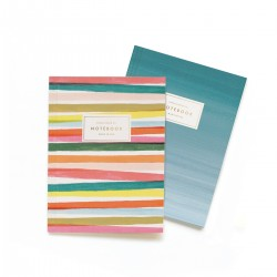 Set 2 notebook Righe