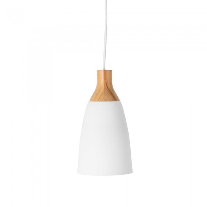 Lampadario metallo/legno large